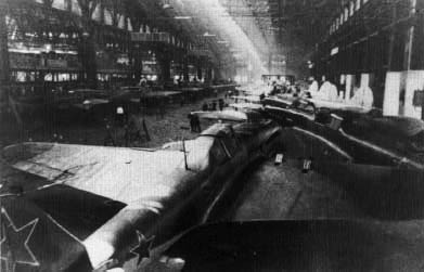a factory producing Il-2s