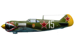 La-5 tiger mouth, flown by Kostylev