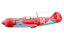 The all red la-7 of Alelyukhin