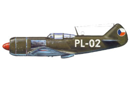 A darkgreen czechosloval la-7