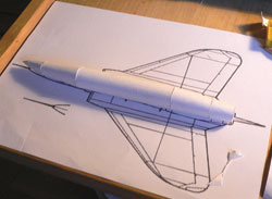 Basic fuselage on the threeside view