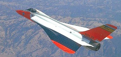 F5d fitted with ogival as a research aircraft for the supersonic transport program