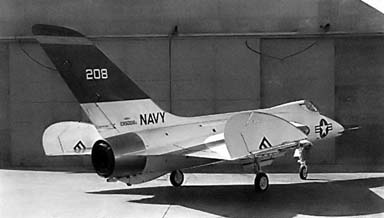 The F5d Skylancer prototype with folded wings