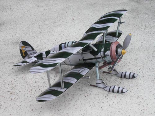 The Stahlhart papercraft Gladiator on Skis