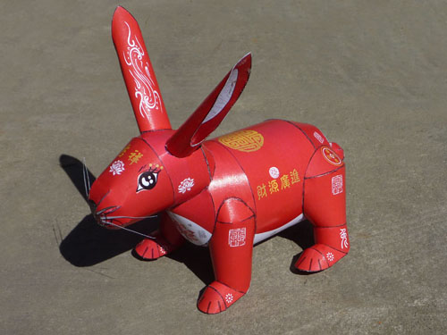 The Stahlhart papercraft Rabbit in its original traditional chinese style version