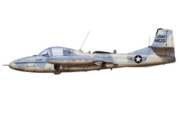 A-37A USAF early blue-grey livery